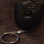 Keychain LED Alcohol Breath Tester Breathalyzer 6360